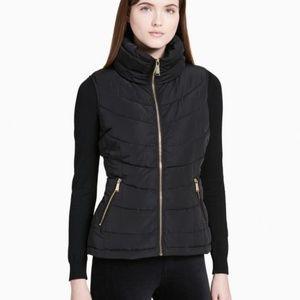 Calvin Klein | black lightweight puffer zip vest